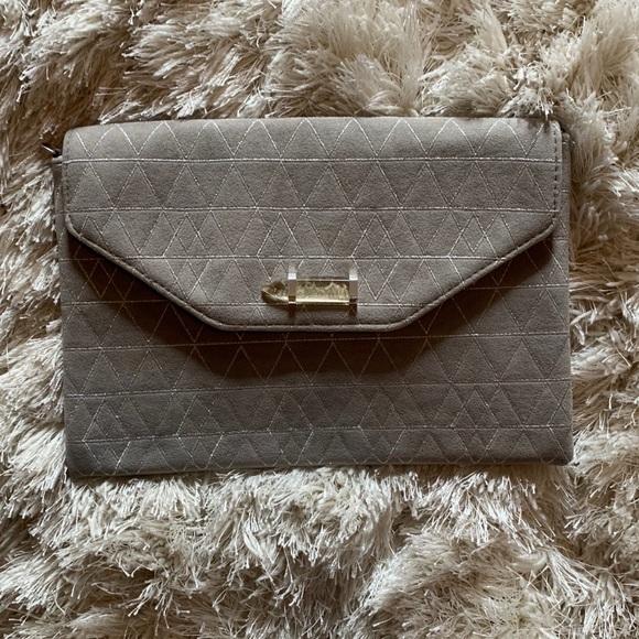 Stella & Dot Handbags - Stella and Dot Grey Clutch